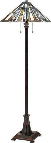 Quoizel TFMK9362VA Maybeck Tiffany Floor Lamp Lighting