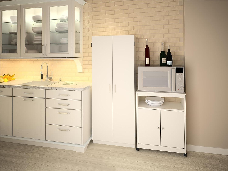 amazoncom system build flynn wooden storage cabinet white kitchen u0026 dining