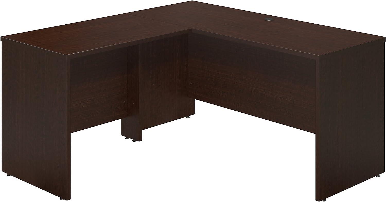 Bush Business Furniture Series C Elite 60W x 24D Desk Shell with 36W Return in Mocha Cherry