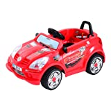 HOMCOM Children Kids Electric Ride On 6V Battery Operated Toy Car w/ Seat Belt (Red)