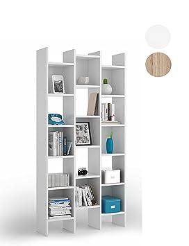 habitdesign 002256bo estantera librera estanteria comedor acabada en blanco medidas 192x96x29 cm - Estanteria Libreria
