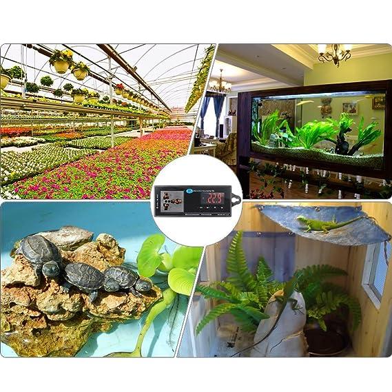 Amazon.com : US Plug Digital LED Temperature Controller Aquarium Reptile Lizard Box Thermometer Incubator Refrigerator Termometro Acuario Thermostat ...