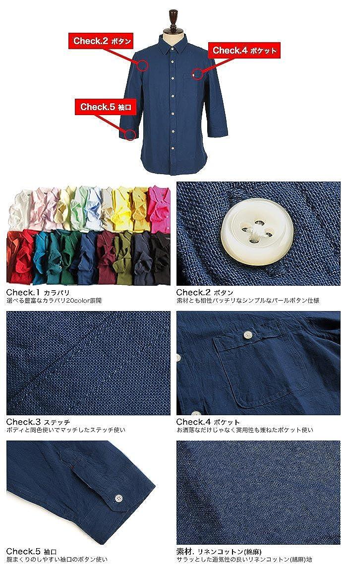 Valletta Mens Mens 20color Linen Cotton 70/% Sleeve Shirt