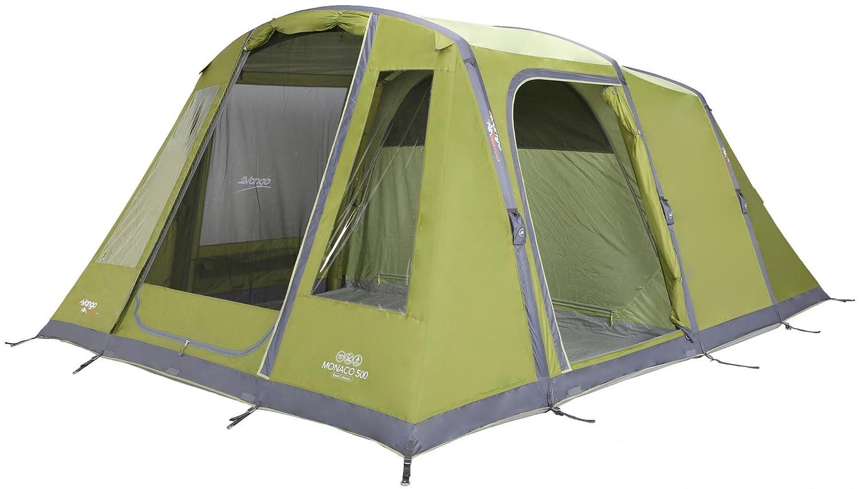 Vango Monaco 500 - Herbal - 5 Personen - Komfortables aufblasbares Familien Camping Zelt, 5 Personen