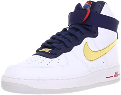 cheap for discount b9321 801b2 NIKE Air Force 1 HI 07 Premium USA Basketball Olympic Mens Shoes AF1  525317-100
