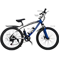 TronZ E-Bike 250, Electric Cycle, 250W hub motor, 36V Lithium Ion Battery, White and Blue