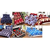 Urban Home Glace Cotton Double Bedsheet Set of 7 – Double Bed Size, Multicolour