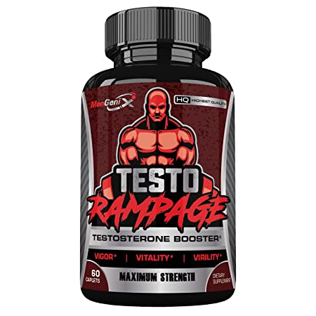 Mengenix Testo Rampage- Maximum Strength All Natural Testosterone Booster- Promotes Vigor, Virality, Vitality