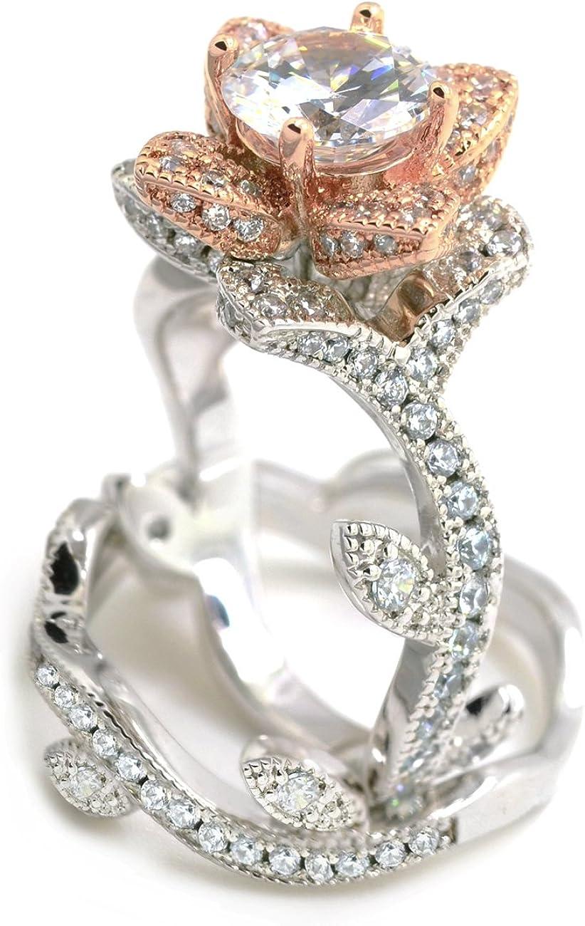 bridal jewellery pink gold jewelry Rose gold Crystal set zircon jewellery wedding jewelry zirconia wedding set sparkly wedding jewelry