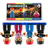 Magnetic Figures Set of 4 Toddlers Community Action Toy People, Magnetic Tiles Expansion Pack for Boys and Girls Nurse, Build