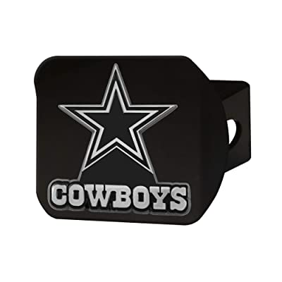"""FANMATS NFL Dallas Cowboys Metal Hitch Cover, Black, 2"""" Square Type III Hitch Cover: Automotive"""