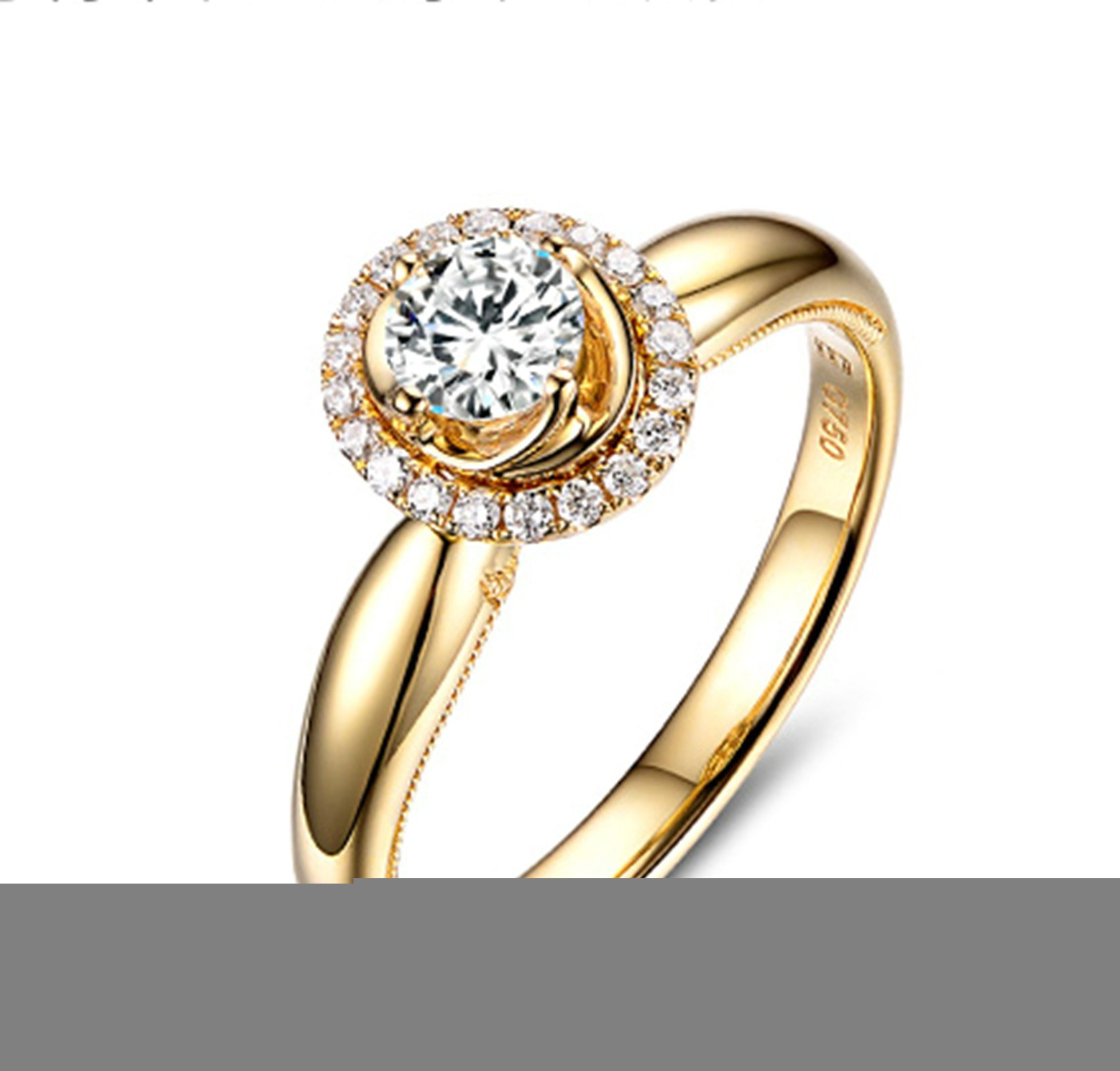 Gnzoe Rose Gold Women Wedding Rings Solitaire Promise Rings Crown Flowers Yellow with White Blue 0.3ct Diamond Size 8.5 by Gnzoe