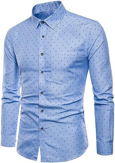 Camisas Hombre, ZODOF Hombre Moda Impreso Camisas de Manga Larga Slim Tops Blusa Camiseta Business Casual Camisas de Vestir Formales: Amazon.es: Ropa y accesorios