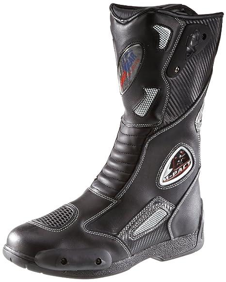 Protectwear SB 03203 44 Motorradstiefel, Allroundstiefel, Sportstiefel aus Leder, Größe 44, Schwarz