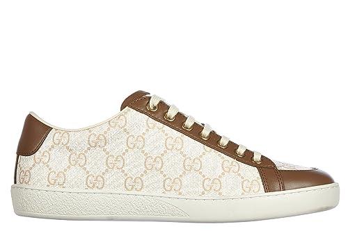Gucci Zapatos Zapatillas de Deporte Mujer en Piel GG Supreme Miro Soft marrón EU 39 338880 KHN80 9180: Amazon.es: Zapatos y complementos