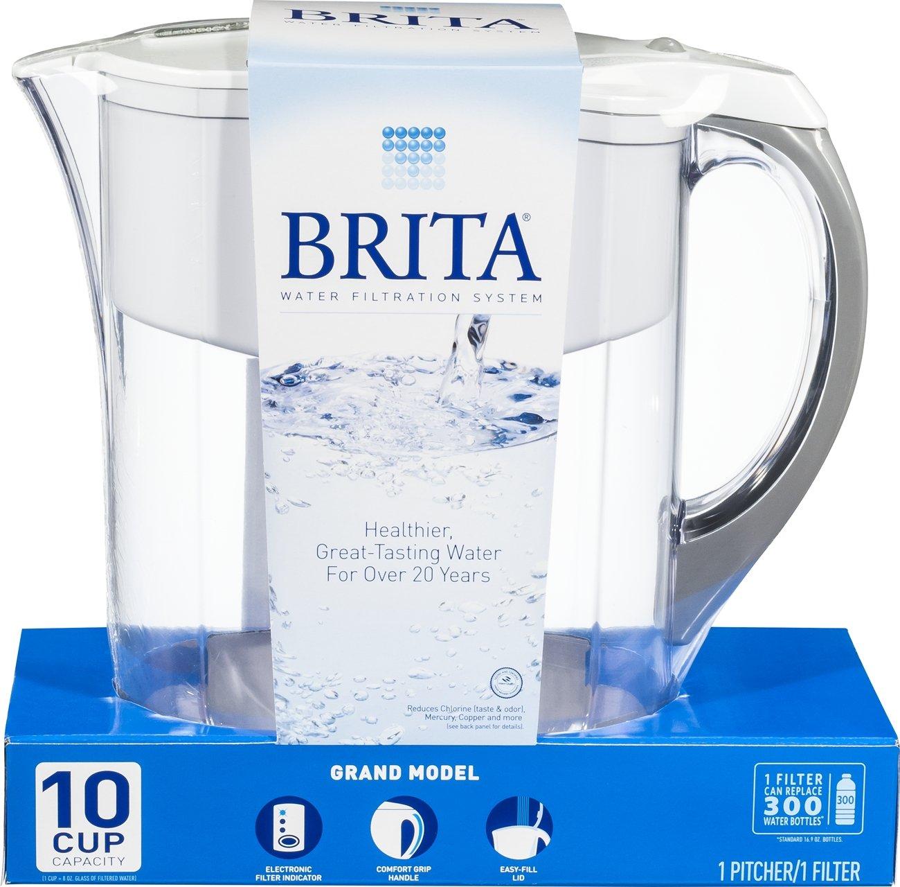 brita water filter pitcher. Brita Grand Water Filter Pitcher, White, 10 Cup - 42556: Amazon.ca: Home \u0026 Kitchen Pitcher
