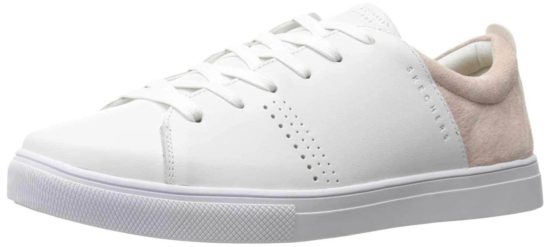 Skechers Moda-Clean Street, Zapatillas para Mujer 38 EU|Blanco (White/Pink)