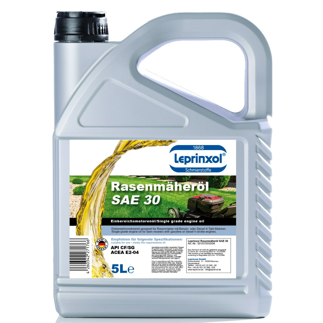 5L sae30 de 4 del 4 de T rasenmäheröl einbereichsöl ...