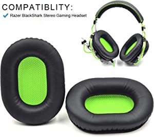 Replacement Cushion Ear Pads Seals Pillow Foam Cover for Razer BlackShark Stereo Gaming Headset Headphone