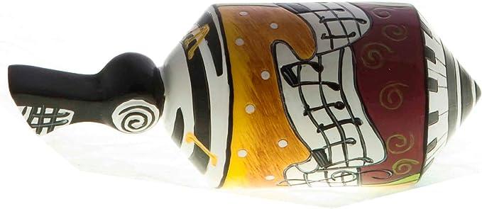 Set of 2 R/&L Jerusalem Painted Wood Dreidels