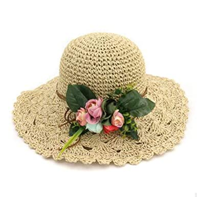 Foldable Hand Woven Women S Straw Hat Summer Style Small Fresh Sun