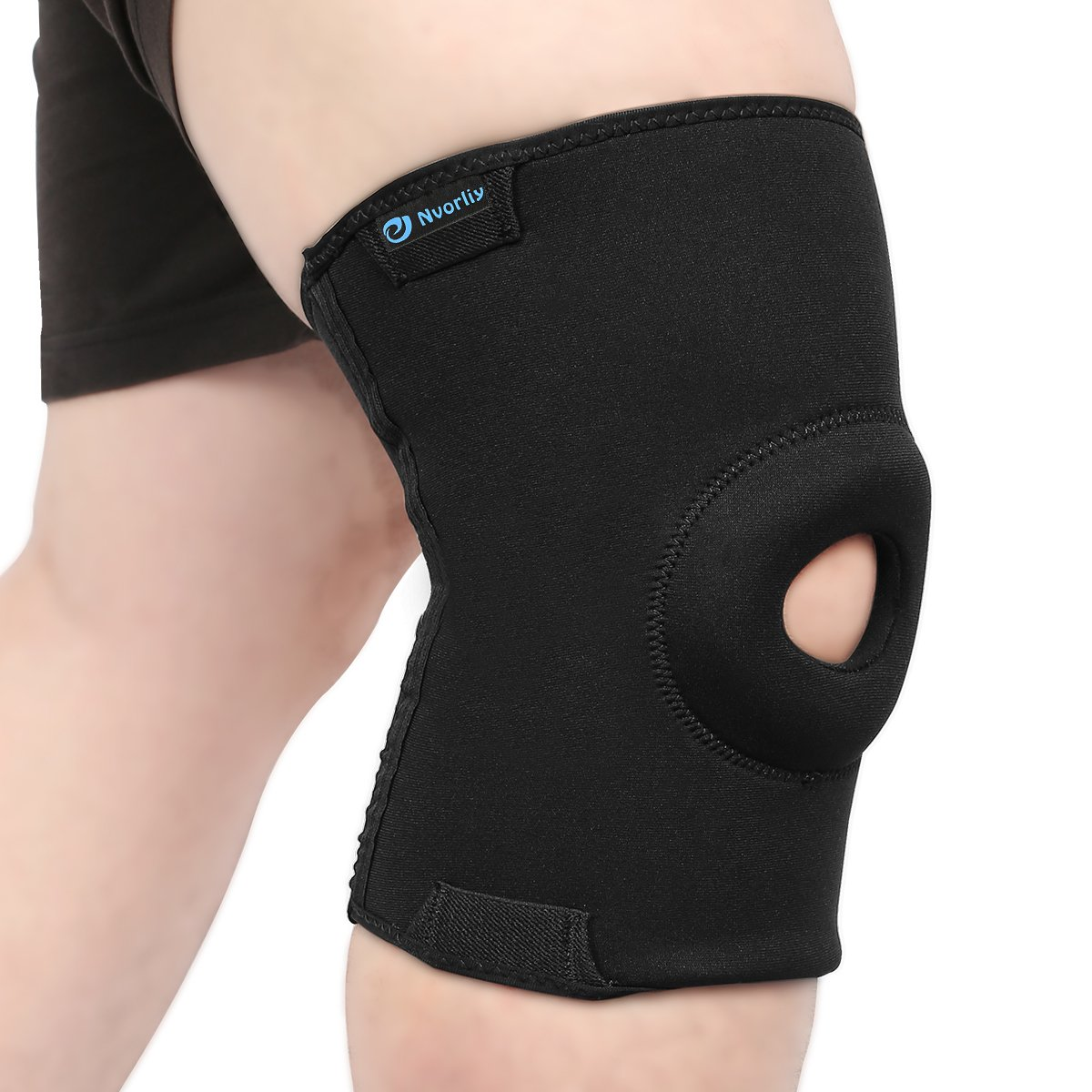 Nvorliy 4XL Plus Size Knee Compression Sleeves Design for Large Size Legs Support for Running, Sports Exercise, Joint Pain Relief, Arthritis, ACL and Post-Surgery Recovery, Fit Men and Women (4XL)