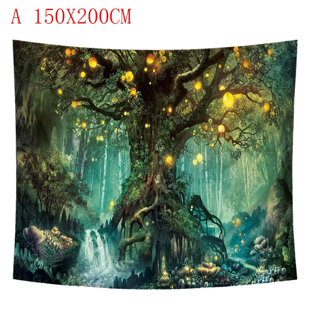 Amazon Com Akwell Tapestry Jungle Circle Fantasy Painting Tapestry