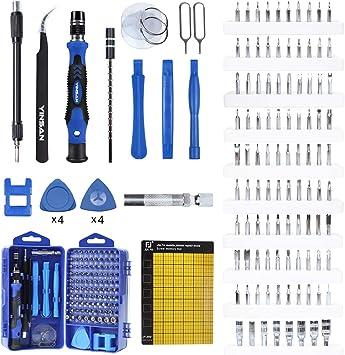 YINSAN 120 en 1 Juego de Destornilladores de Precisión con Magnetizador, Kit de Herramientas de Reparación de Bricolaje Profesional para iPhones, Laptops, Teléfono, Xboxs, Gafas, Reloj, Cámara, TV ect: Amazon.es: Bricolaje y