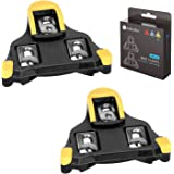 Inkesky Bike Cleats SPD-SL for Road Cycling - Compatible with Shimano SM-SH11 - Yellow