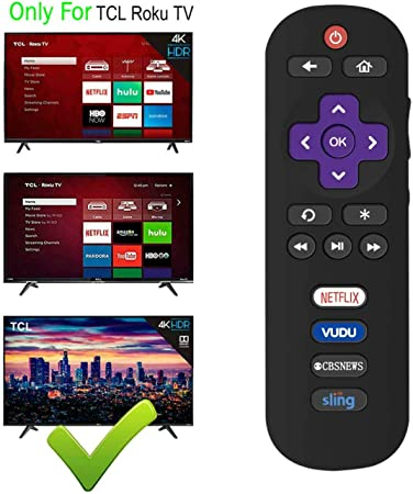 Rabusion RC280 Control Remoto para TCL ROKU TLC TV 40FS3750 49FP110 55FS3750 43FP110 32FS3: Amazon.es: Electrónica