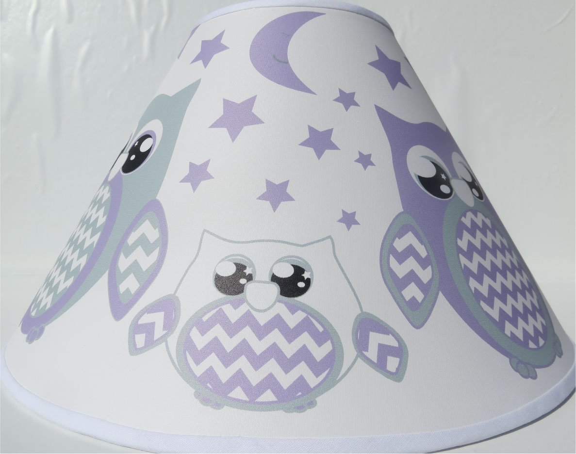 Amazon.com : Purple Owl Lamp Shade / Children's Purple Owl Nursery ...