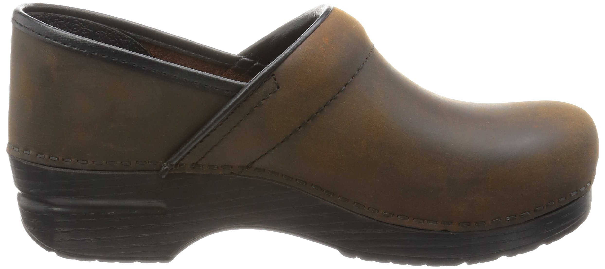 Dansko Women's Professional Oiled Leather Clog,Antique Brown/Black,35 EU / 4.5-5 B(M) US by Dansko (Image #7)