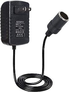 12V 2A AC to DC Converter Car Cigarette Lighter Socket Power Adapter, AC 100V-240V to DC 12V 2A 24W Power Supply Converter Transformer US Wall Plug Adapter for Automotive Powered Devices