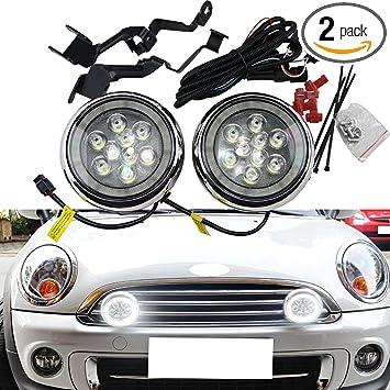 Mini Cooper Driving Light Cover Black R55 R56 R58 R60  1 pcs