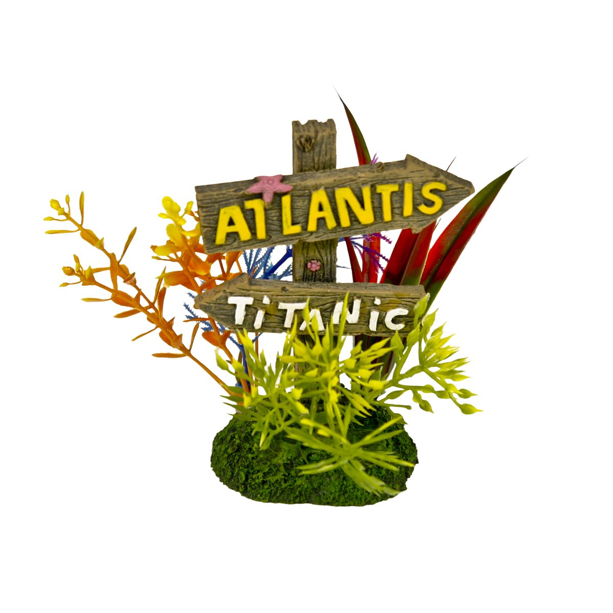 Blue Ribbon Pet Products 006083 Exotic Environments Atlantis And Titanic Sign Dealfisher EE-1140