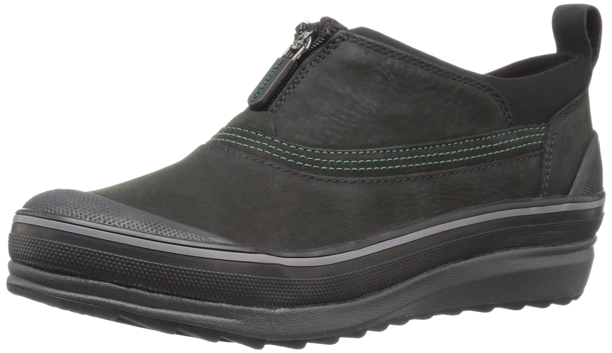 Clarks Women's Muckers Ruck Rain Shoe, Black Nubuck, 6.5 M US