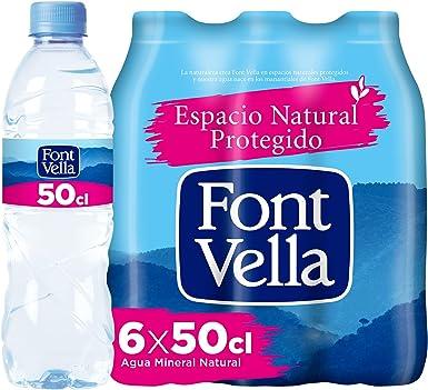 Font Vella, Agua Mineral Natural - Pack 6 x 50cl: Amazon.es ...