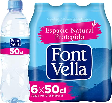 Font Vella, Agua Mineral Natural - Pack 6 x 50cl: Amazon.es: Alimentación y bebidas