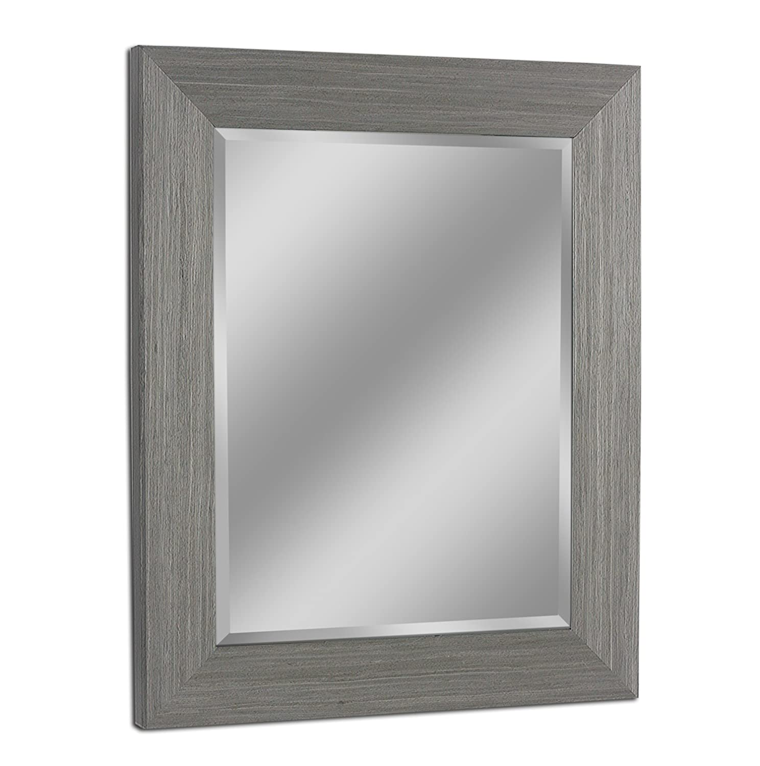 Amazon Headwest 8012 Rustic Box Driftwood Wall Mirror in Light