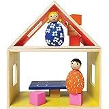 Manhattan Toy 213800 MiO Eating + 2 People Modular Wooden Building Set Playset