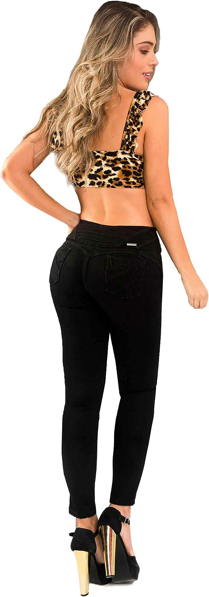 Khoor Jeans Colombianos Push Up Negro Skinny Jeans Para Mujer Levanta Gluteos Realza Gluteos Y Moldea Cadera Vanguardia En Moda Ajuste Perfecto Comodidad