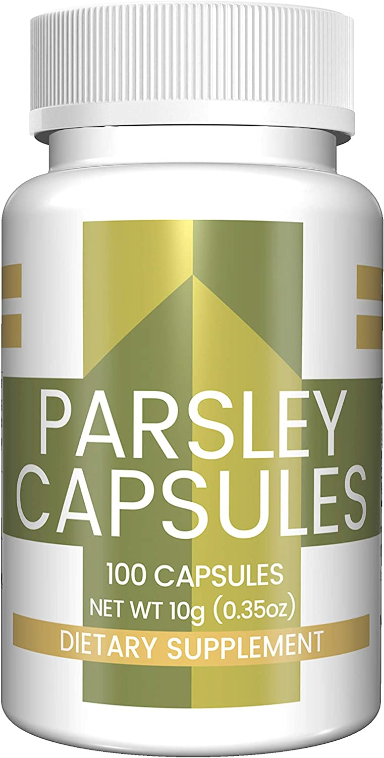 Parsley Capsules (100 Capsules, 400 mg per Serving) (4 Capsules/Serving) by Pure Organic Ingredients, All-Natural, Rich Source of Vitamin K, C & A, Good Source of Iron & Antioxidants, Heart Healthy*