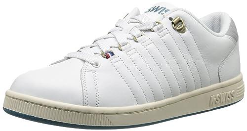 K-Swiss Mens Lozan III P Fashion Sneaker, Classic White/Neutral Grey/