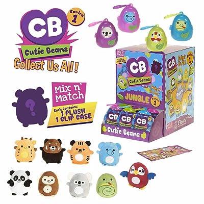 Loftus Fiesta Toys Mystery Mini Cutie Beans Jungle Animal Plush Clip On Toys, Multicolor: Toys & Games