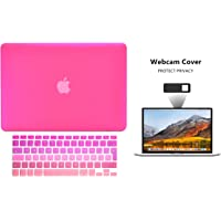 Protector Funda Case para Macbook + Protector Skin Cover de Teclado en Español + Webcam Cover AntiSpy Rosa Degradado Macbook Pro 13'' Model: A1278
