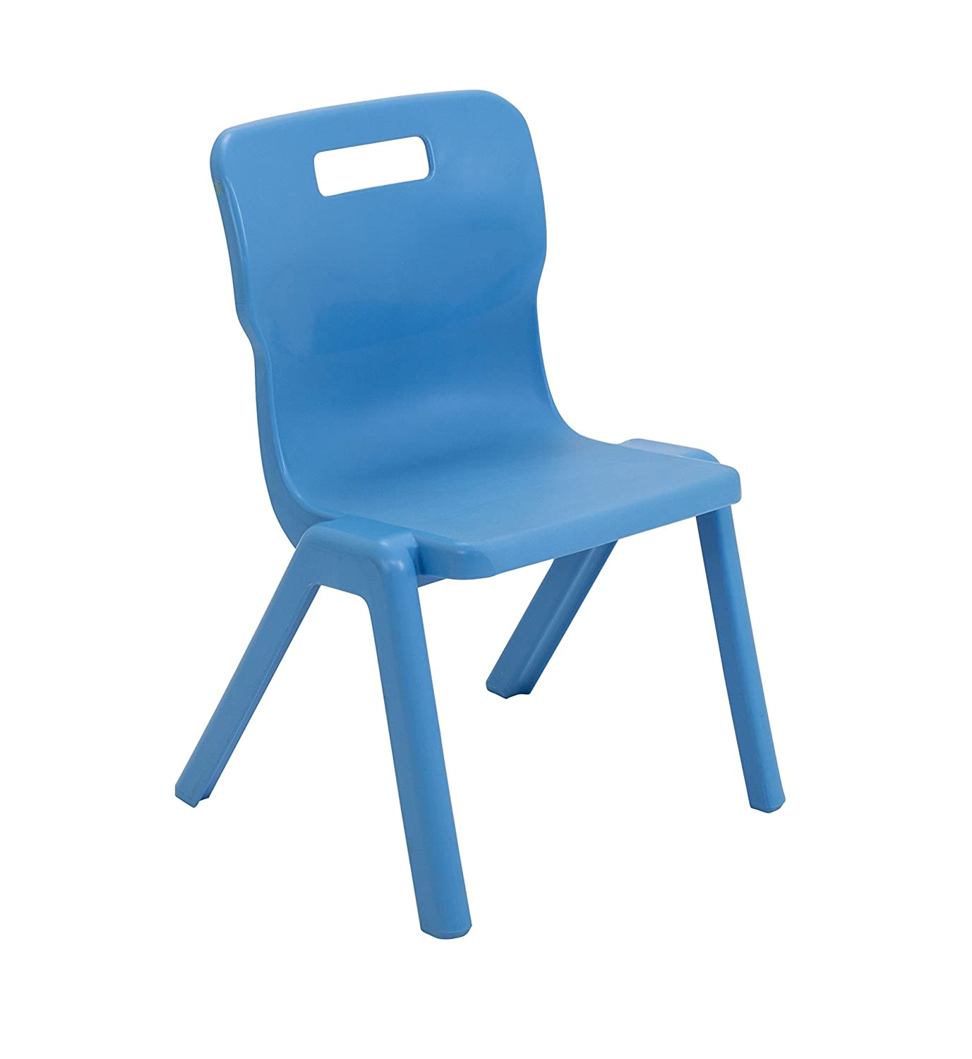 Sky Blue Ages 5-7 Years Titan One Piece Classroom Chair Size 3 Plastic