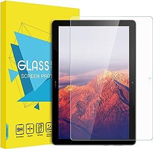 MoKo Cpmpatible con MediaPad T5 10.1 Protector de Pantalla Premium HD Claro 9H Dureza Cristal Templado Película El Revestimiento Oleofóbico para MediaPad T5 10.1