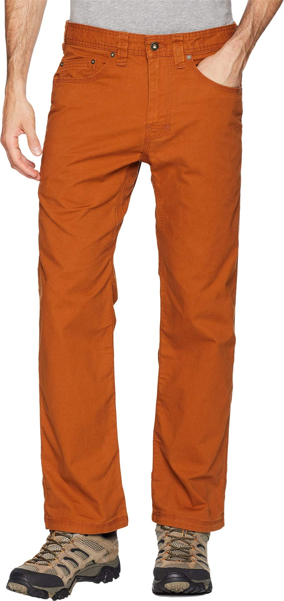 prAna Men's Bronson 30'''' Inseam Athletic Pants, Size 28, Burnt Caramel