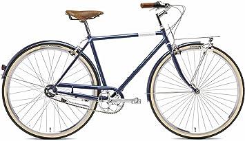 Creme BI-CRE-2106_182_55 - Bicicleta de Paseo para Hombre, Talla M (165-175 cm), Color Deep Blue: Amazon.es: Deportes y aire libre