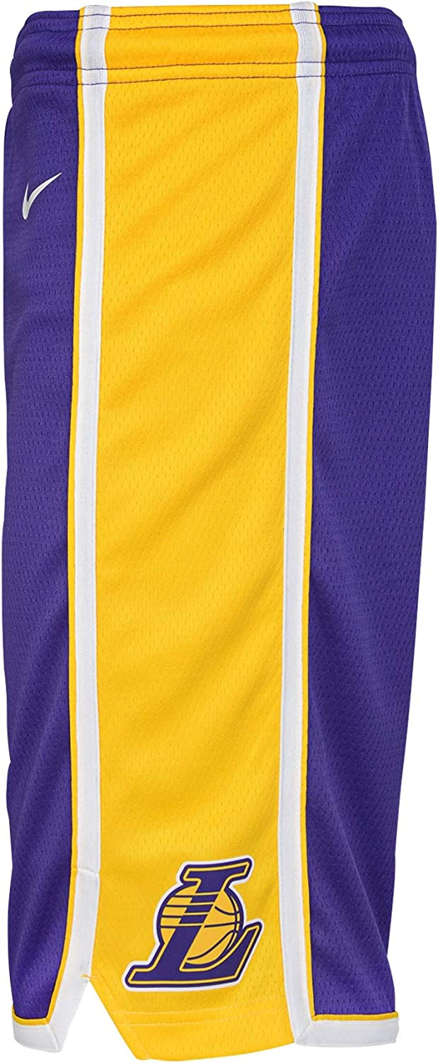 Youth 8-20 Los Angeles Lakers Purple Swingman Statement Performance Shorts Youth Sizing